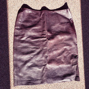 Beautiful leather skirt